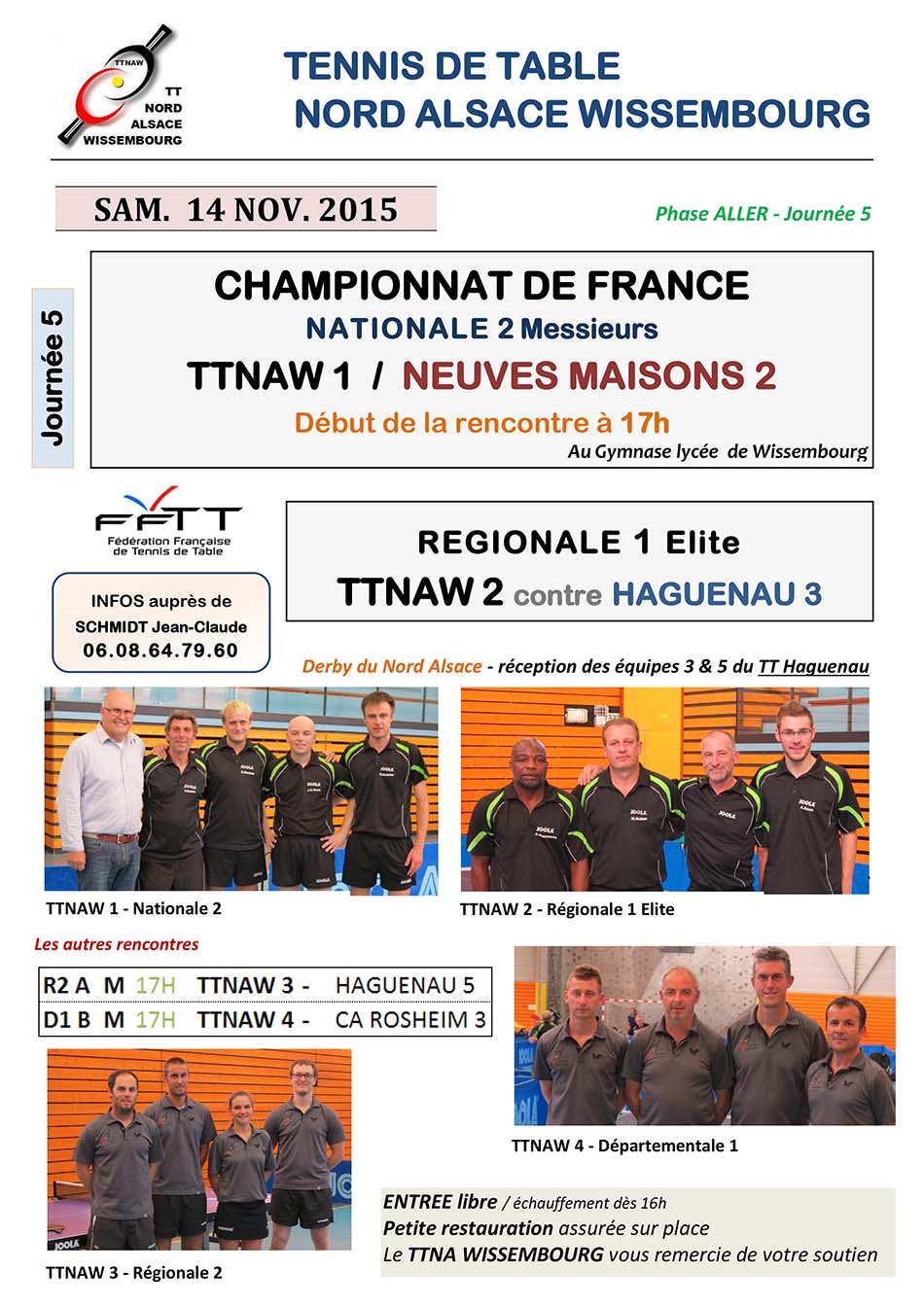 Tennis de Table NORD ALSACE